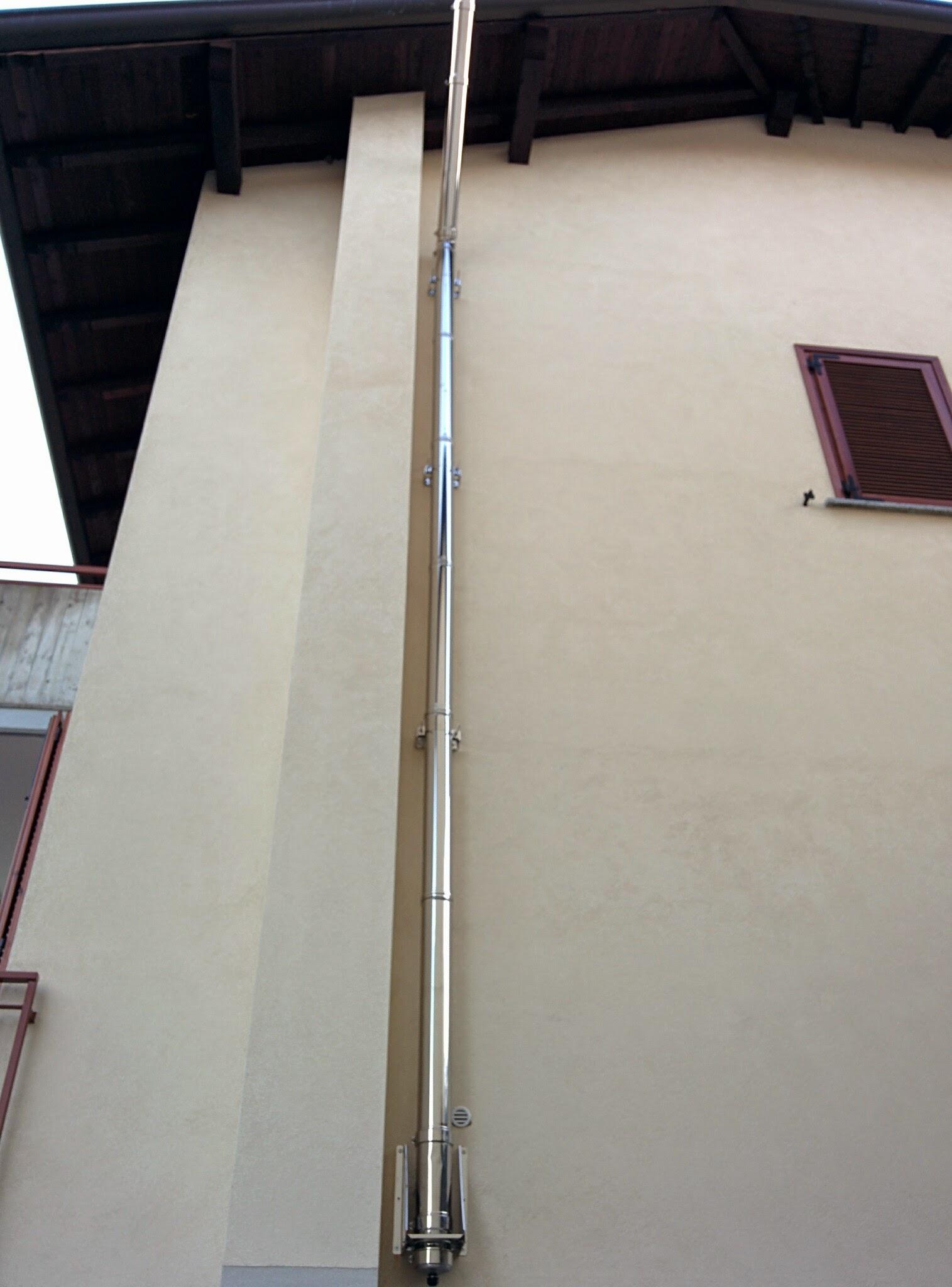 Installazione canna fumaria dp stufa a pellet edilkamin - Canna fumaria esterna per stufa a legna ...