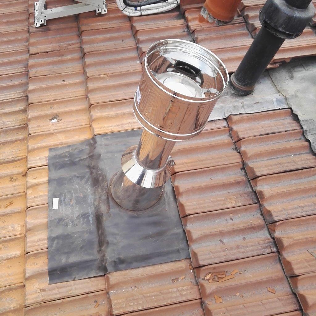 Installazione canna fumaria per stufa a pellet marchio ravelli 104 paganini graziano - Installazione stufa a pellet ...
