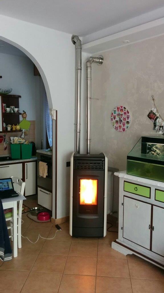 Installazione canna fumaria per stufa a pellet ravelli - Stufa a metano con canna fumaria ...